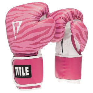 TITLE Safari Zebra Fitness Gloves 500