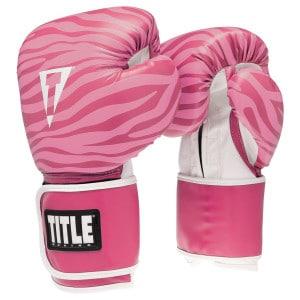 TITLE Safari Zebra Fitness Gloves 500