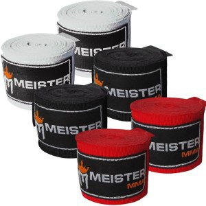 """Meister Adult 180"""" MMA and Boxing Hand Wraps"""